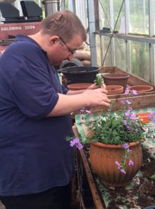 Adults with learning disabilities are trained in horticulture through Horticap and have some fascinating garden sculpture. Well worth seeing.