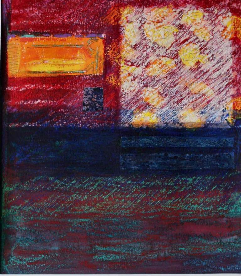 Square with Blooms - Mixed Media - Denise Ledgerwood