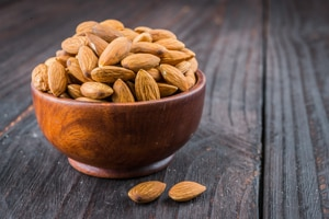 Photo of bowl of almonds