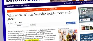 Whimsical Winter Wonder artists meet-and-greet Article, Bronx Times