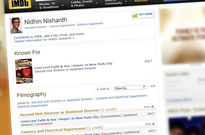 Nidhin Nishanth IMDB