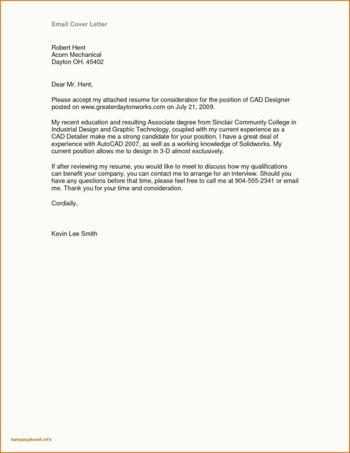 35+ Stylish Cover Letter In Email Sample  To Get Inspired