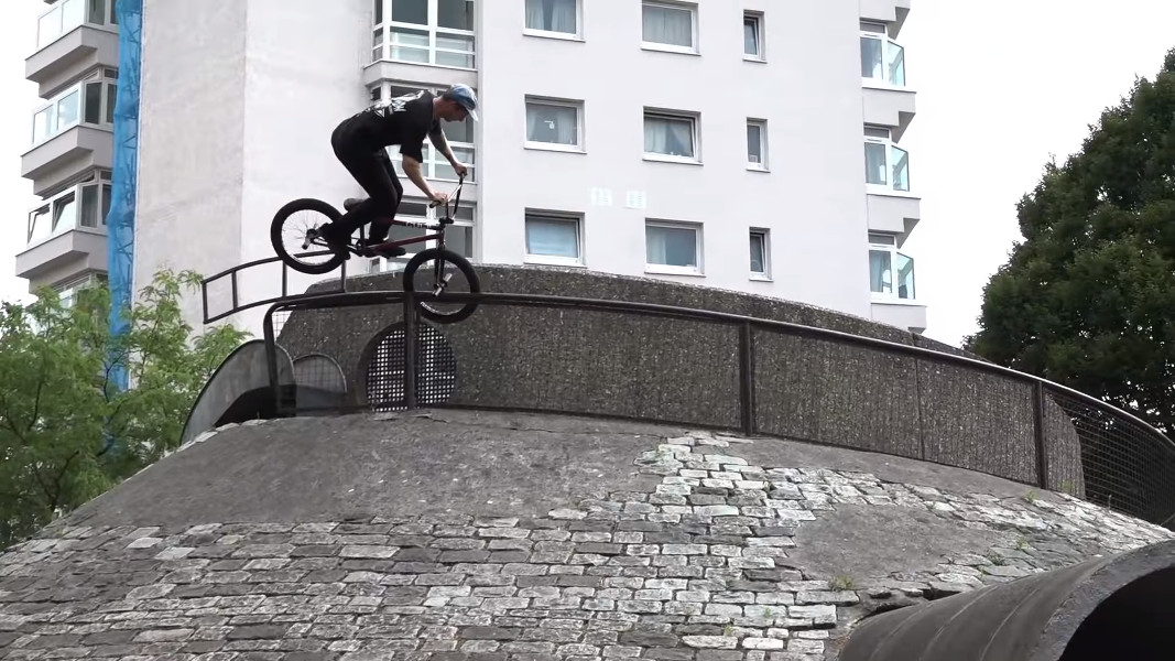 Ollie Shields Over Toothpick grind BMX