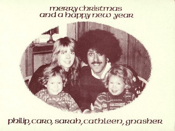Phil Lynott Christmas Card