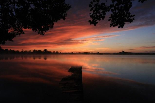 Wschód słońca nad jez. Wigry, Wigierski Park Narodowy