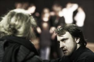 Na zdj. Marek Kościółek w trakcie prowadzenia warsztatów.
