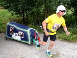 Na zdj. ultramaratończyk Piotr Kuryło.