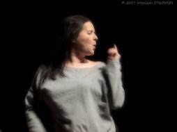 09.XII.2017, Suwalki, SOK (sala im. A. Wajdy); spektakl Supermenka w wyk. Jowity Budnik. © 2017 Wojciech Otlowski