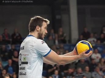 23 XI 2019; Suwałki Arena; Plus Liga; Ślepsk - Olsztyn 3:1; Jakub Rohnka © 2019 Wojciech Otłowski