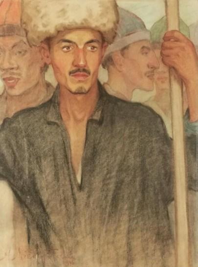 A. Międzybłocki, Oni, 1916, pastel, 66x49,5