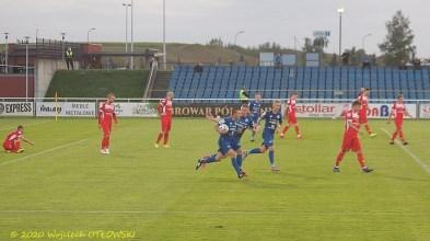 11 IX 2020 ; Suwałki - Stadion Miejski; I liga, Wigry - Skra Częstochowa 2:1; Kamil Adamek strzelił na 1:1 © 2020 Wojciech Otłowski