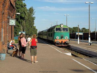 25 VI 2008; Suwałki -Dworzec PKP; wjazd pociągu prowadzonego przez lokomotywę SU45-164 © 2021 Wojciech Otłowski