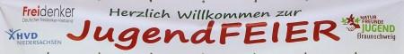 JugendFeier-Willkommensbanner 2014