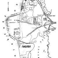 Labiausiai paplitęs Liepojos tvirtovės fortifikacinių įrenginių žemėlapis