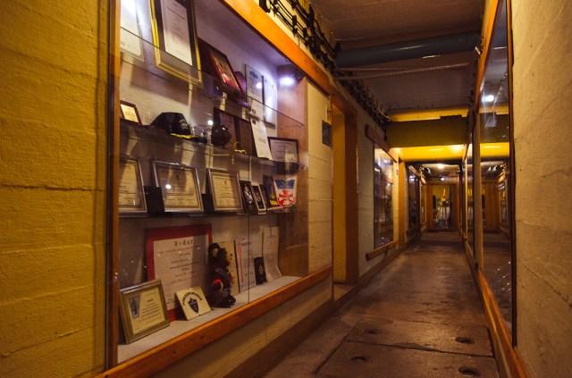 Beveik visas bunkeris išnaudotas ekspozicijoms