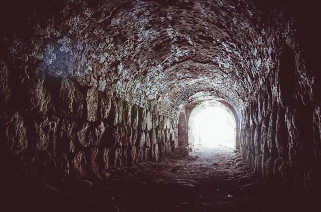 Vienas iš tunelių, vedančių į gynybines pozicijas