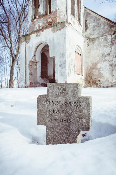 Artileristo W. Sturenbeck, žuvusio 1915-04-11, kapas