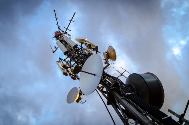 Ant stogo - veikiantis komunikacijų bokštelis