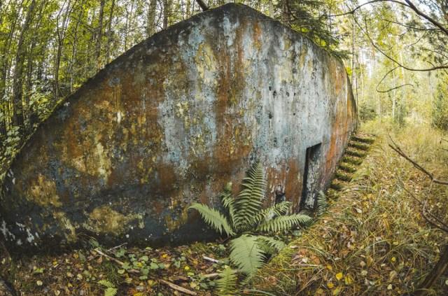 Įėjimas į nedidelį bunkeriuką
