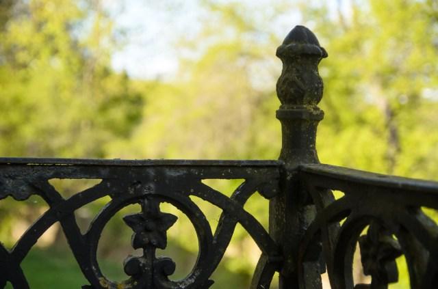 Balkono turėklai - viena vertingesnių rūmų detalių