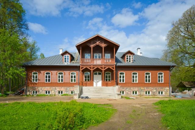 Vilkiškių dvaro rūmų fasadas