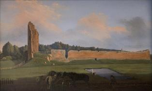 Medininkų pilies griuvėsiai (1853). Vincentas Dmochovskis