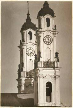 Janas Bułhakas. Viešpaties Dangun Žengimo (Misionierių) bažnyčios bokštai, 1917 m.