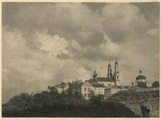 Jurgis Hopenas. Vilniaus senamiesčio panorama iš Bokšto gatvės. 1934 m.