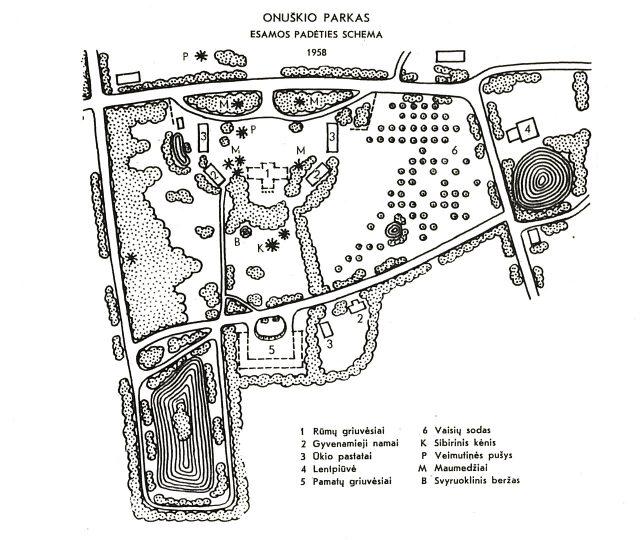 Onuskio parkas, 1958 m.