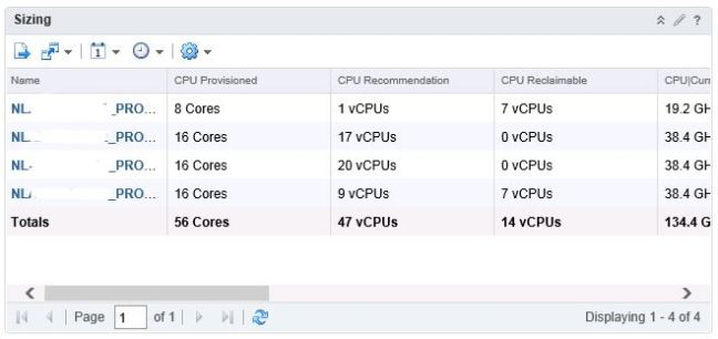 vrops filters