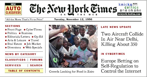 NYT On the Web