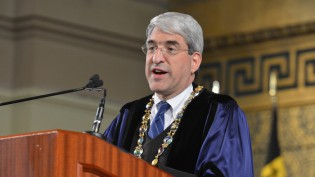 The 2014 baccalaureate ceremomy held in Woolsey Hall featured addresses by President Peter Salovey and Yale College Dean Mary Miller.