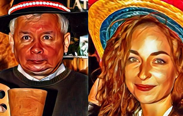 Kaczyński i Ewa Tylman