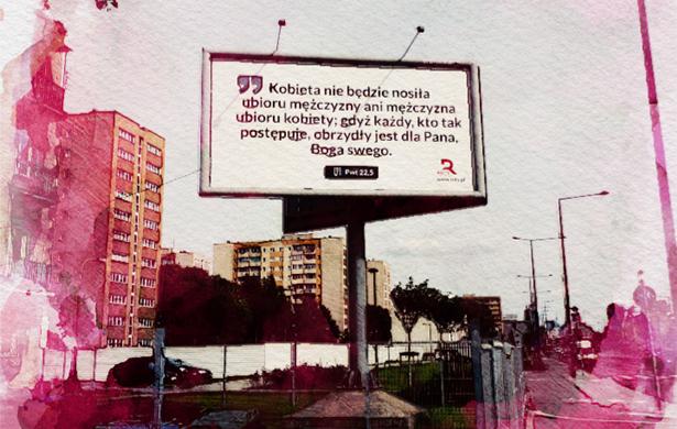 Billboard Biblia Robert Bąkiewicz Rota Marszu Niepodległości