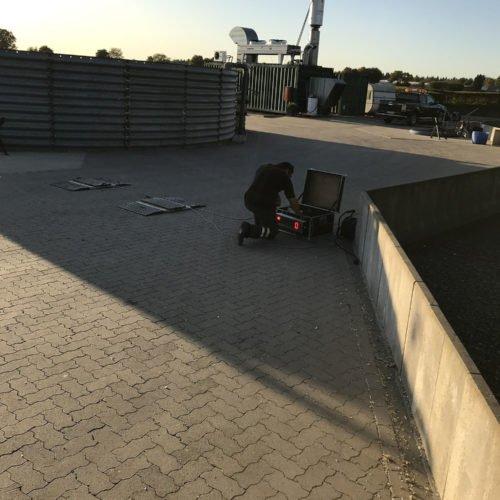Maisernte 2019, Testphase mobile Waage, Einrichtung der mobilen Waage 03, Nierswalder Biogasanlage