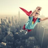 Kind als superman