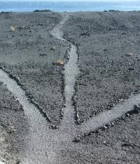 Splitsing van drie paden, copyright Paul de Bruin