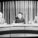 Duitse TV-discussie in zwart-wit, copyright Atomtiger