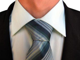 Klaar voor een sollicitatie: man met stropdas. Copyright foto: Martin Boulanger