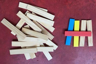 Kapla-look alike bouwmateriaal