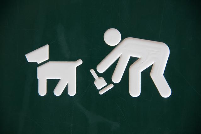 Icoon voor het opruimen van hondenuitwerpselen. Copyright foto: fcl1971