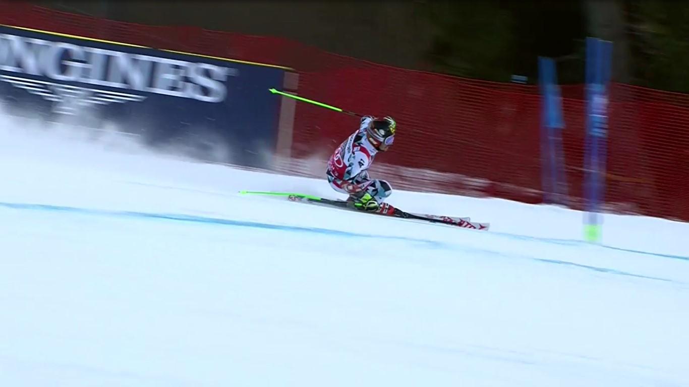 Marcel Hirscher ha vuelto a ganar. En el gigante de Garmisch ha dejado a Olsson, segundo, a un segundo y medio FOTO: Eurosport