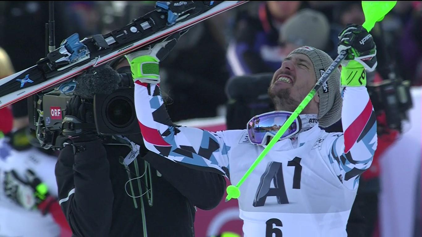 Marcel Hirscher ha firmado una segunda manga excepcional en el slalom de Kitzbuehel y se ha anotado la tercera victoria de la temporada FOTO: Eurosport