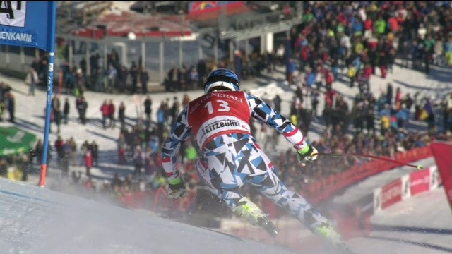Matthias Mayer, en el tramo final de la Streif FOTO: Eurosport