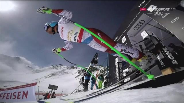 Max Franz, ganador del descenso de Val Gardena, se ha colgado el bronce FOTO: Eurosport