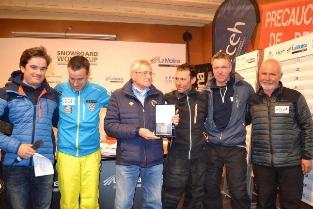 En el marco de la Copa del Mundo en La Molina, Hans Breitfuss y La Molina Club d'esports fueron galardonados por su gran implicación en eventos deportivos