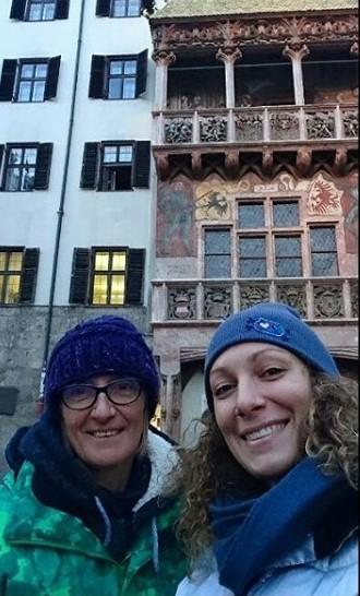 Ilka Stuhec con su madre Darja Crnkov en Innsbruck FOTO: Instagram Stuhec