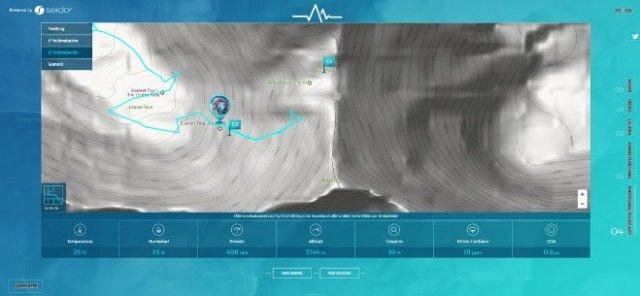 Ferrán Latorre no llega este lunes a los 7.900 metros, por las condiciones adversas es la cota 7.860