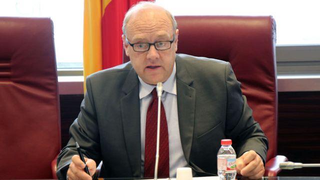 El cónsul mayor de Canillo, Josep Mandicó, durante el consell del Comú extraordinario