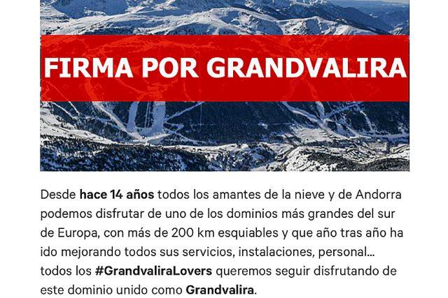 Si eres amante y esquiador de Grandvalira firma en el interior, sólo te llevará un minuto